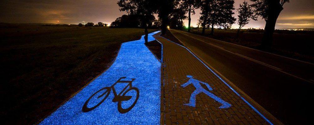 [ Sain & Naturel ] Pologne: ils ont créé des pistes cyclables rétroéclairées qui se rechargent avec le soleil : plus besoin de lampadaires, une grande avancée écologique!!