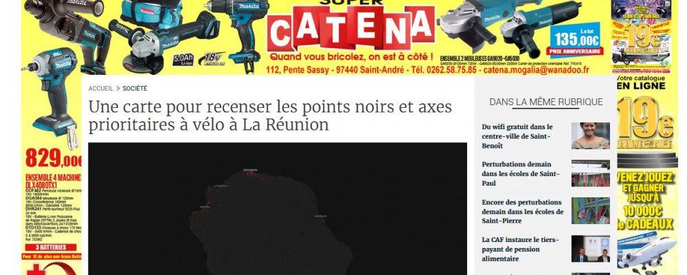 [ Clicanoo ] Une carte pour recenser les points noirs et axes prioritaires à vélo à La Réunion