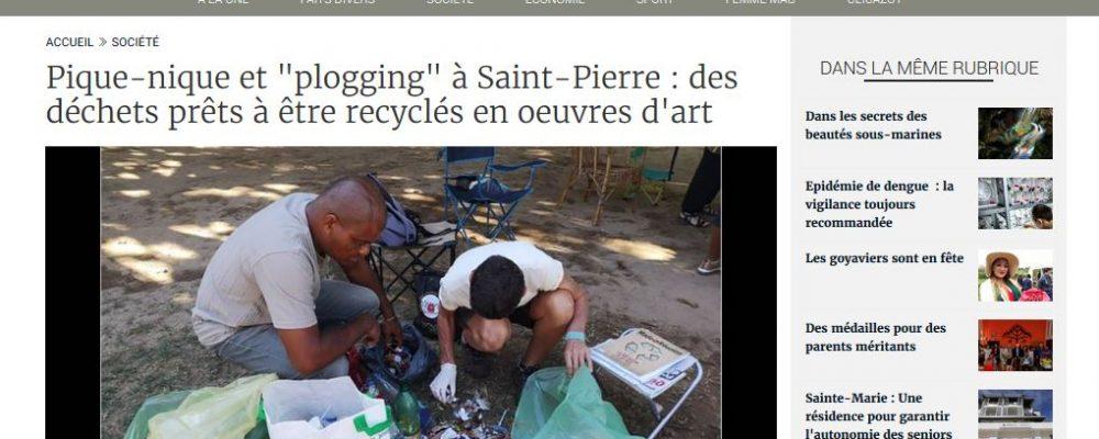 [ Clicanoo] Pique-nique et «plogging» à Saint-Pierre : des déchets prêts à être recyclés en oeuvres d'art