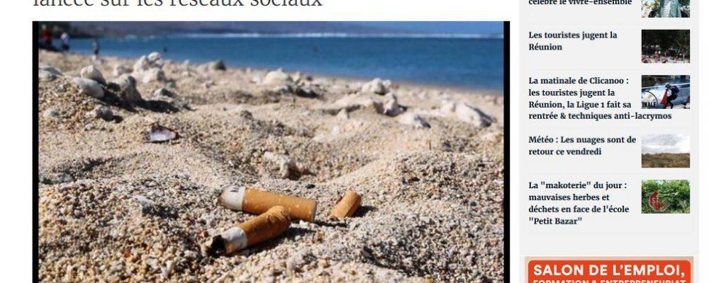 [ Clicanoo] Une opération de nettoyage des plages de l'île lancée sur les réseaux sociaux