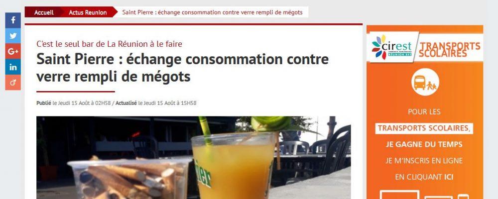 [ ImazPress] Saint Pierre : échange consommation contre verre rempli de mégots