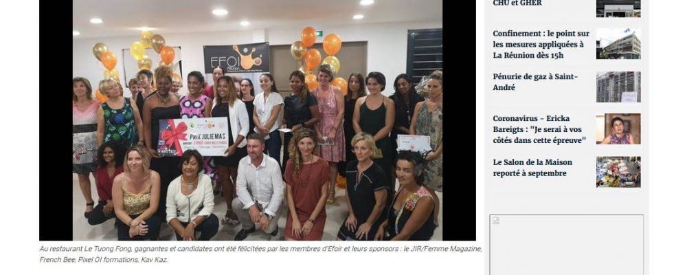 [ Clicanoo ] Prix Julie Mas 2020 : la solidarité à l'honneur