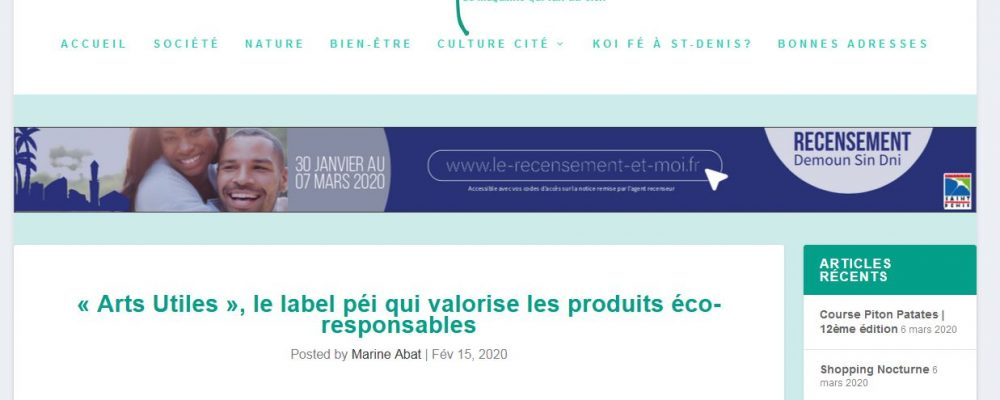 [ Apressi ] « Arts Utiles », le label péi qui valorise les produits éco-responsables